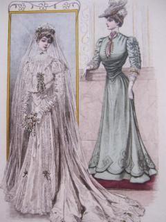 edwardian wedding dress with an sshaped corset