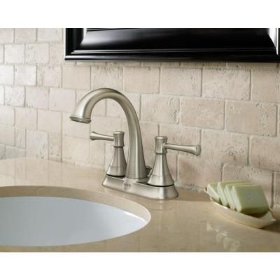 Moen Ashville 4 Incenterset 2Handle Bathroom Faucet With Enchanting Home Depot Moen Bathroom Faucets Inspiration Design
