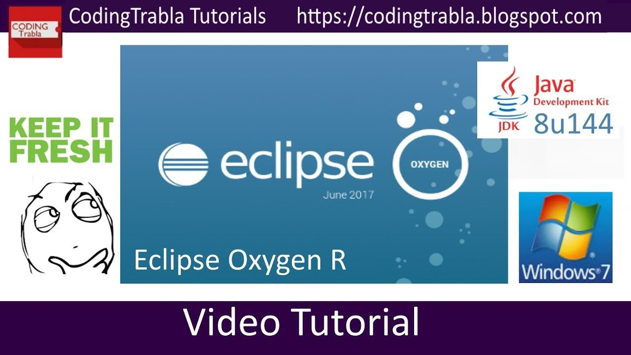 How to install #Eclipse #Oxygen R 2017 32bit with #Java JDK