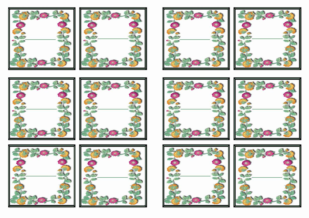 Free Printable Garden Themed Name Tags Themed Name Tags