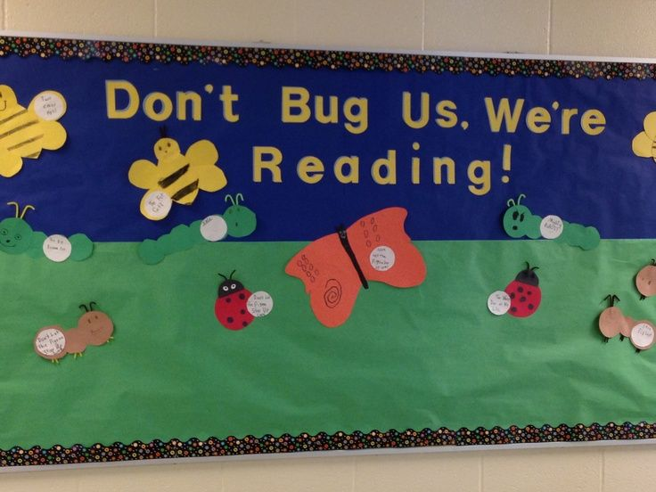 Reading Bulletin Boards | Spring reading bulletin board