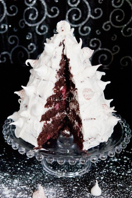 Recette de Forêt Noire en forme de Sapin pour Noël et Nouvel An | StellA Cuisine !!! Recettes faciles, Recettes pas chères, Recettes rapides