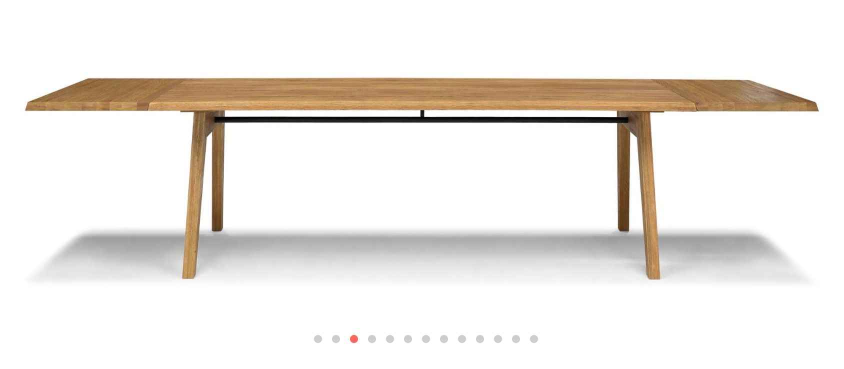 Madera Oak Dining Table Extendable Dining Table Dimensions