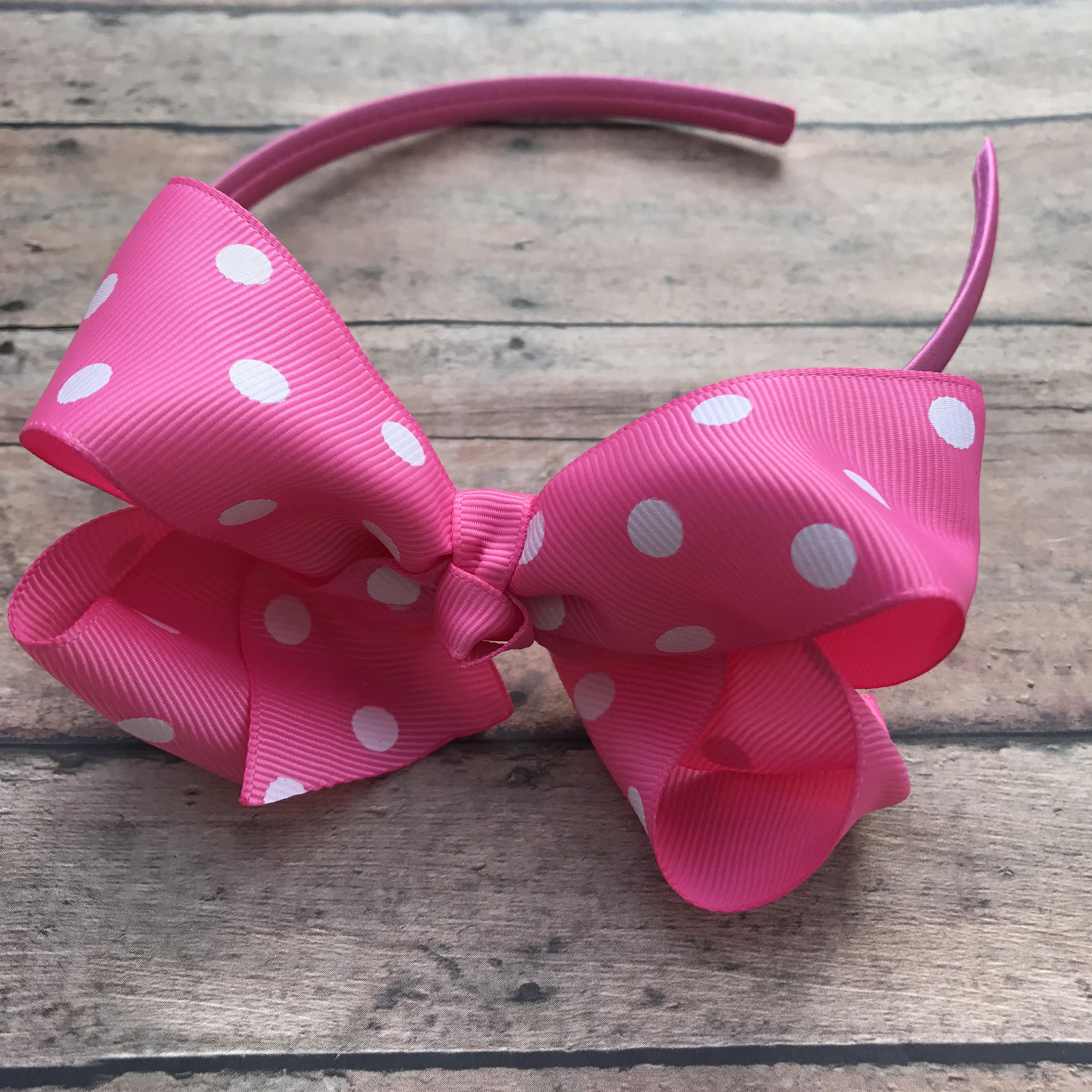 12cebd72428a Pink Headband - Headband - Pink Hard Headband - Toddler Headband - Hard  headband - Pink Bow headband - girls hair accessories - Pink Bow by  BBgiftsandmore ...