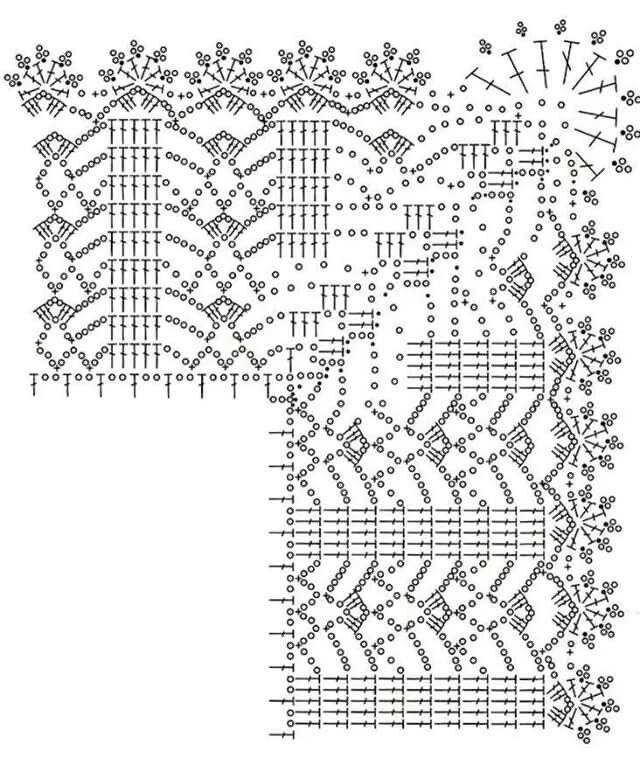 Puntilla con esquina. Corner crochet. | Koronki | Pinterest ...