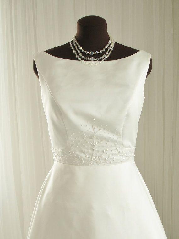 ON HOLD for Rhonda Beaded House of Bianchi Vintage Wedding Dress ...