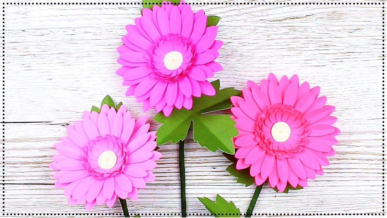 flor en papel flor margarita flor gerbera daisy paper