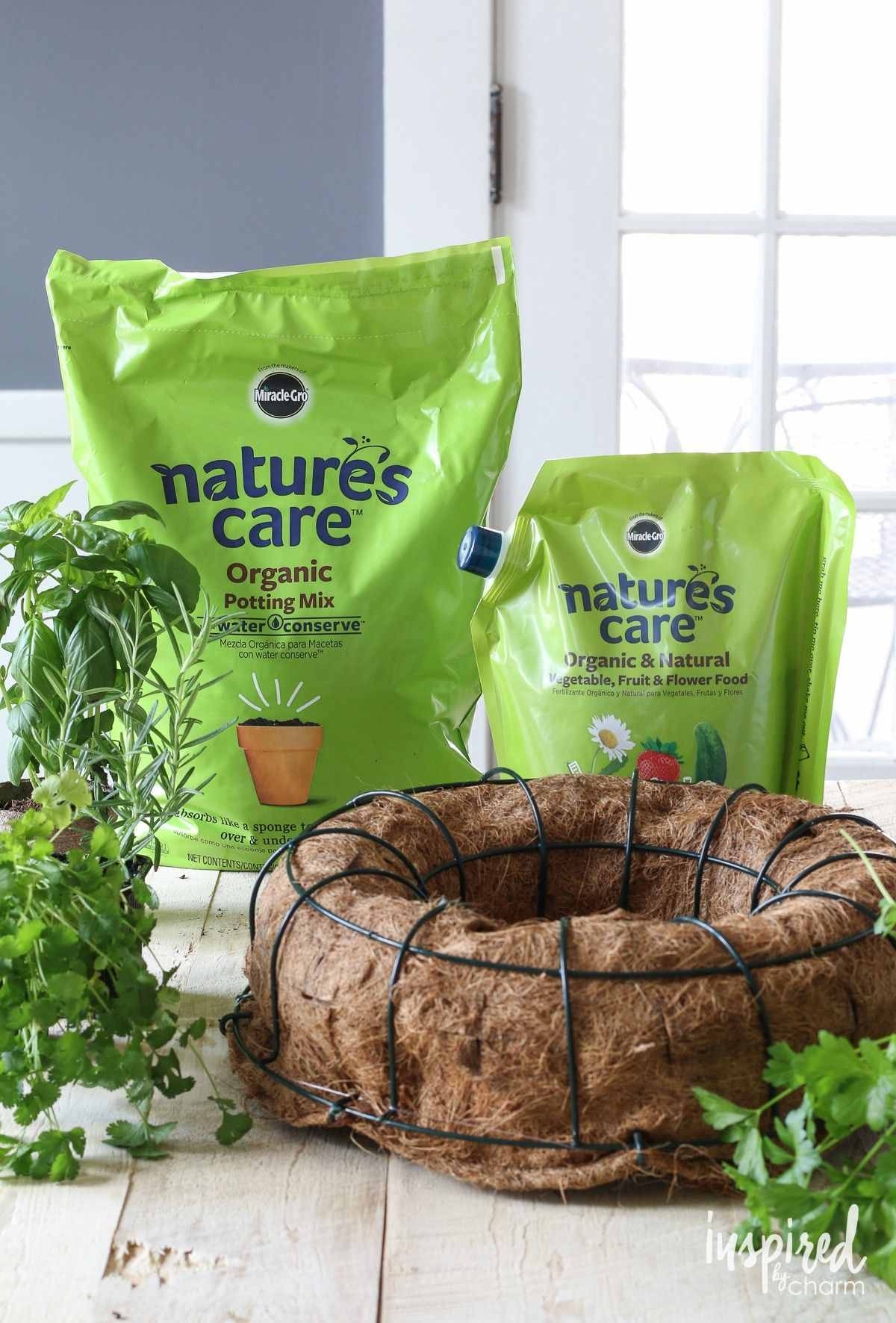 Tight on space but want fresh herbs try creating an herb - Nature s care organic garden soil ...