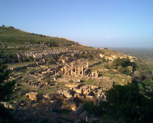 Temple Of Apollo And Ruins Of Cyrene Libya Ancient Greece