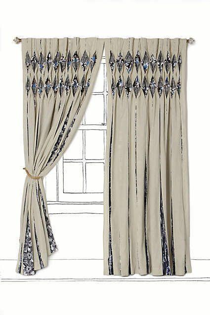 New Anthropologie Seven Seas Namibia Curtain Window Panel 50 X 84