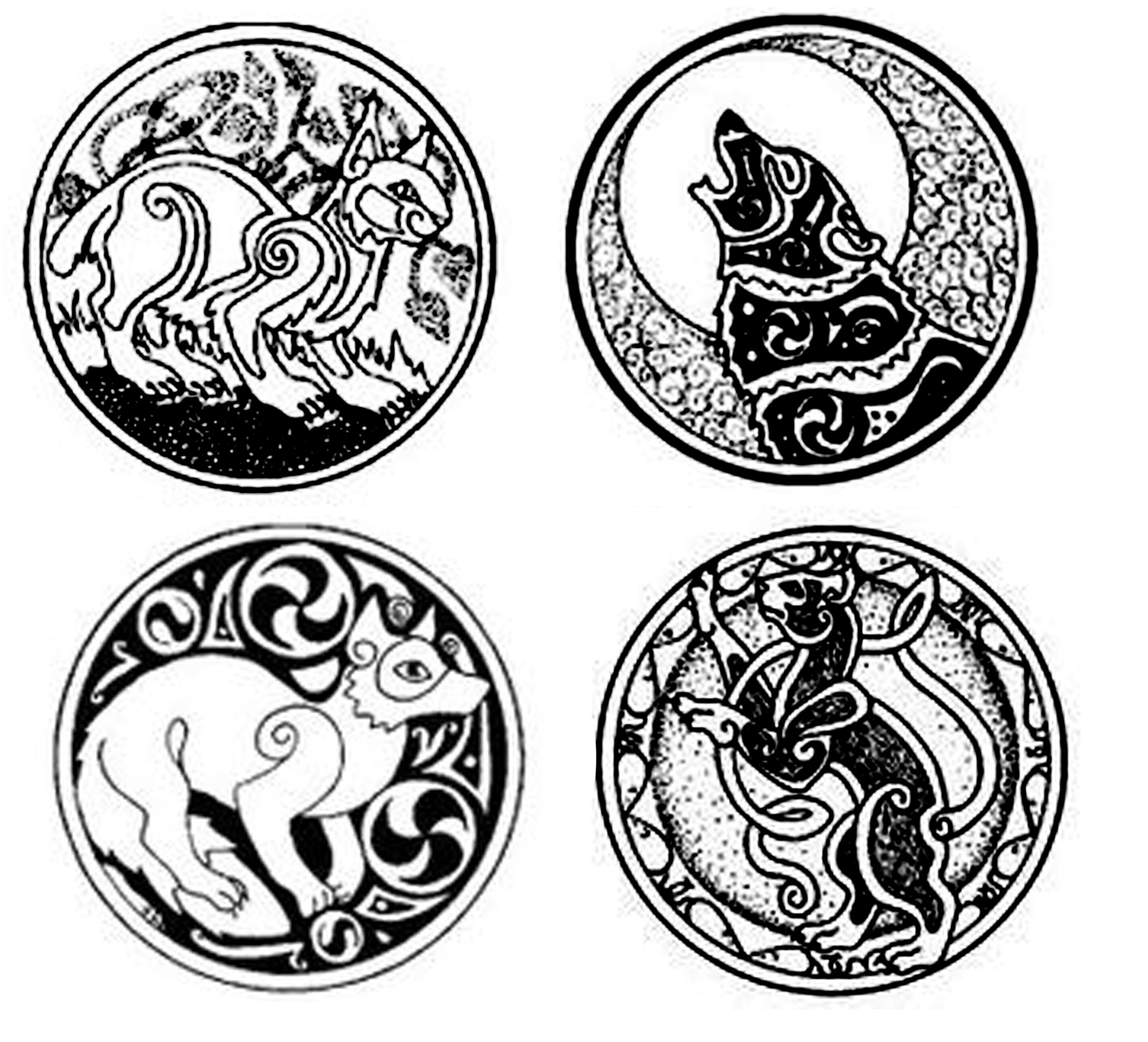 celtic cat fox wolf celtic pinterest wolf foxes and cat