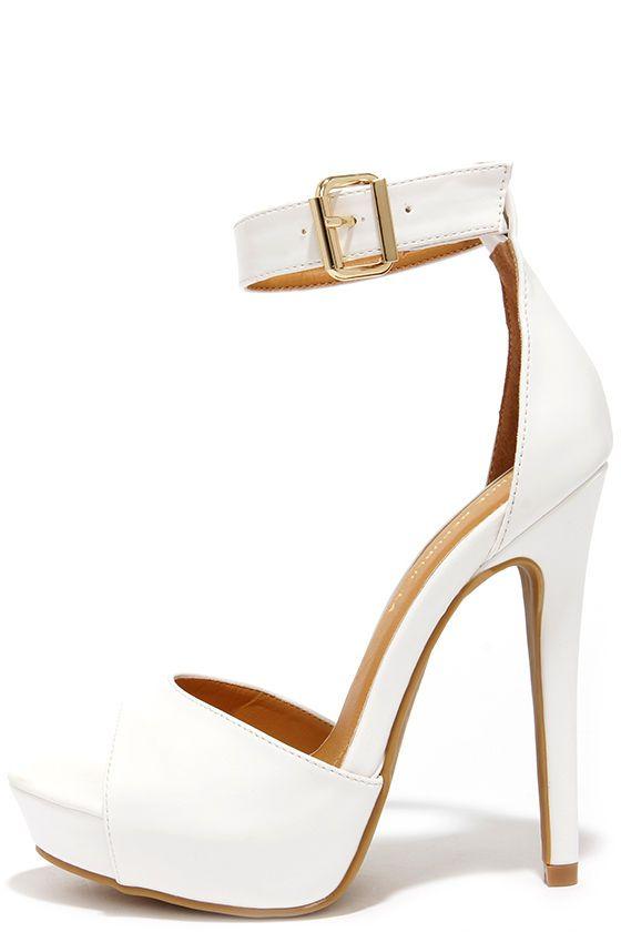 Platform Ankle Strap Heels