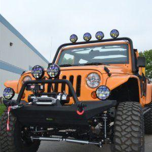 Body Armor 4x4 Black Front Light Bar Mount For Jeep Jk Wrangler Jeep Jk Jeep Wrangler Light Bar Jeep Lights
