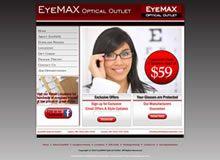 Web design for EyeMax Optical Outlet of Salem, New Hampshire