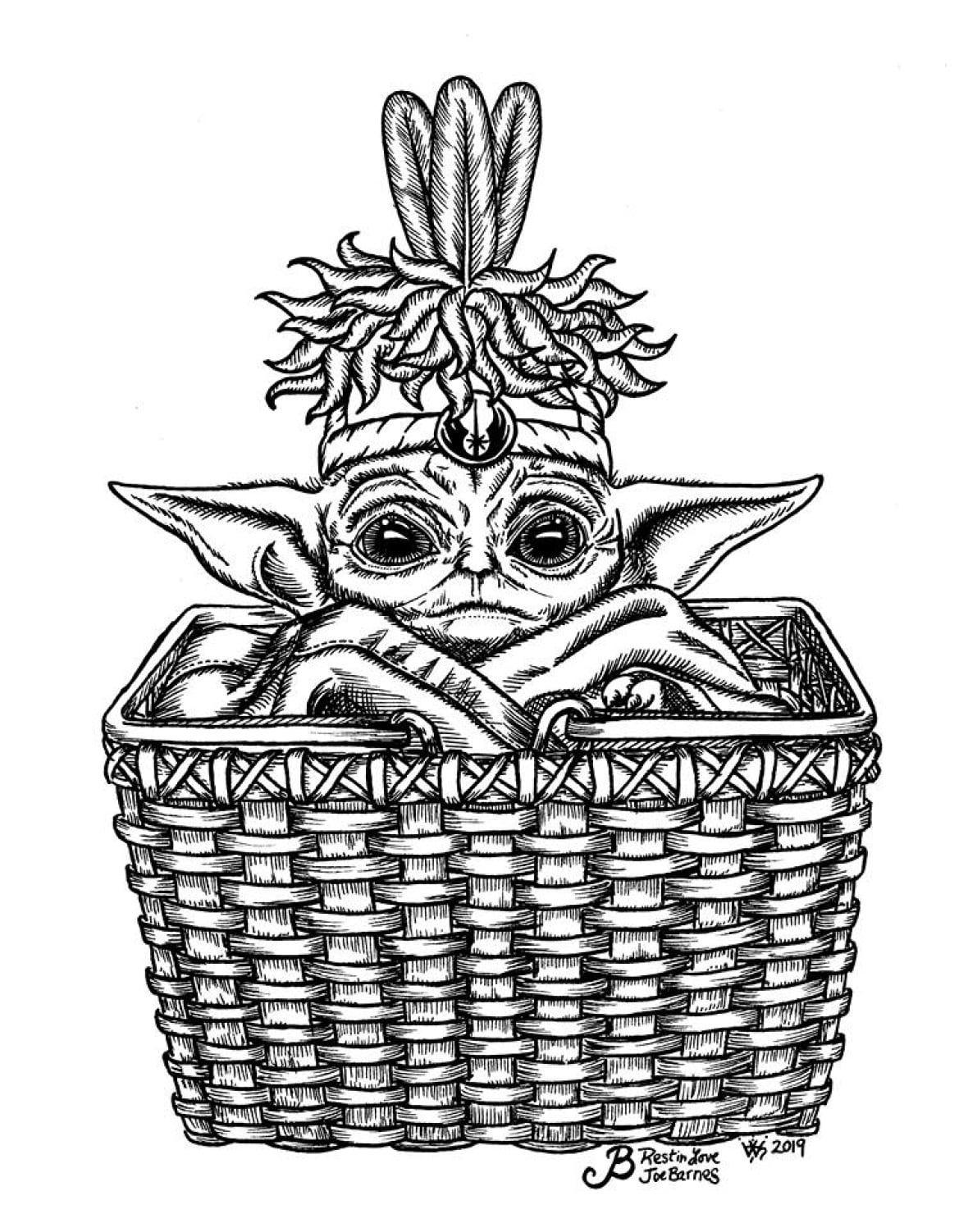 So Darn Cute Indigenous Artists And Memers Embrace Baby Yoda Cbc News Yoda Images Yoda Singer Art