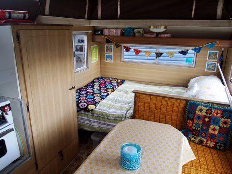 Granny square cushion | Vintage caravans, Vintage caravans and Retro ...