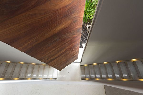 Door and Stairs Breathtaking Home Blending With the Exotic Landscape