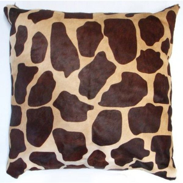 New Cowhide Pillow Case Giraffe Print 20 X 20 Giraffe Cow Hide Pillow 80 Liked On Polyvore Featuring Home H Cowhide Pillows Pillows Grey Throw Pillows