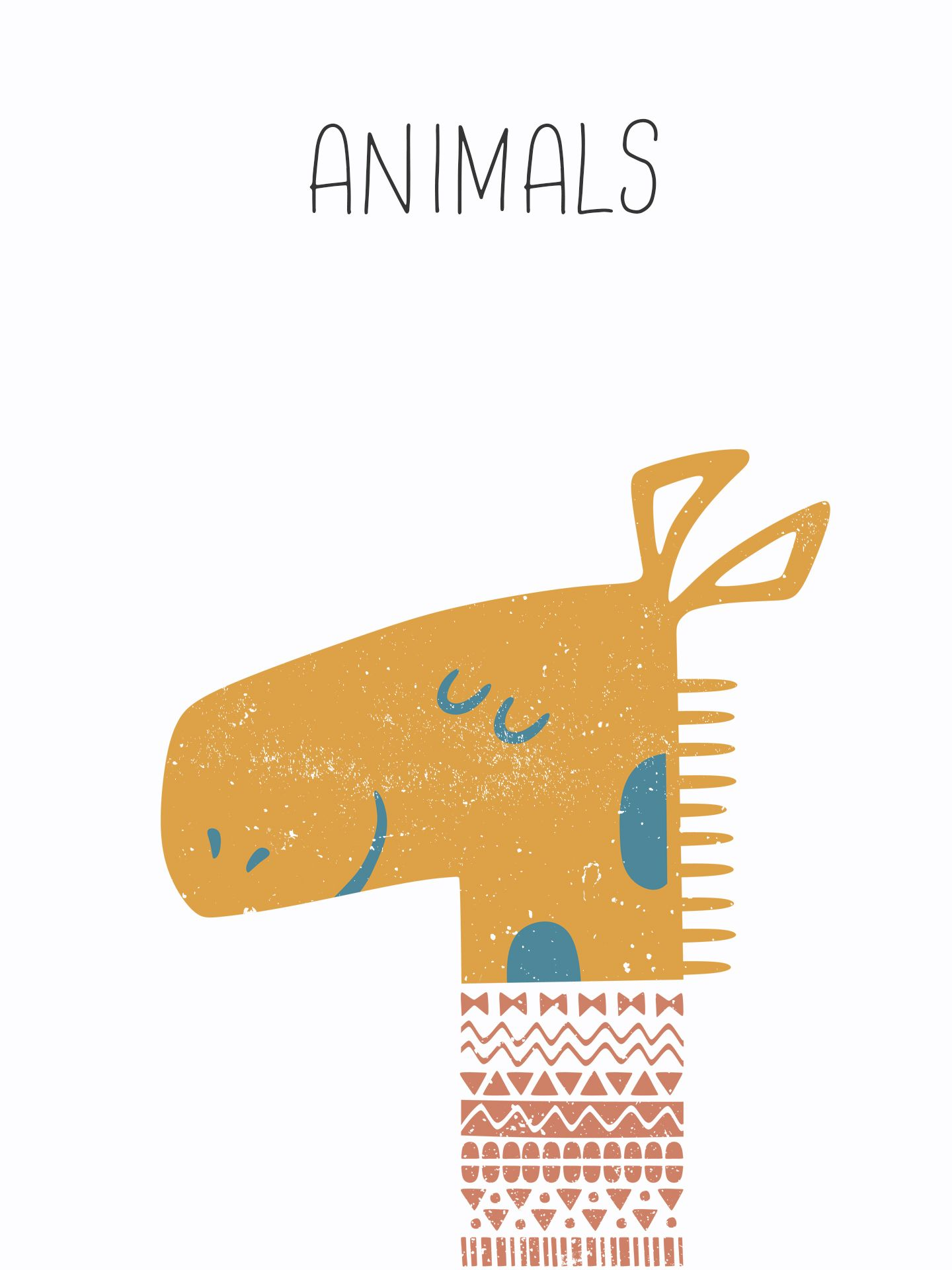 Kids Illustration, Animal Print Design, Giraffe Nursery Decor ...