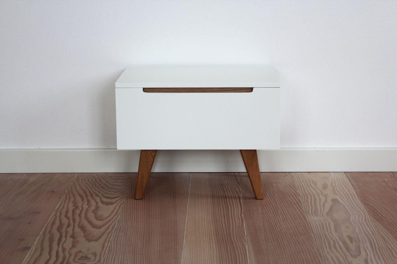 Linsell Nachttisch Beistelltisch weiß matt lackiert Schublade soft ...