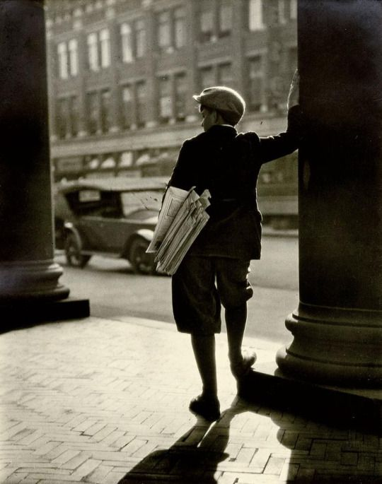 The Newsboy, 1931, George. W. French. American (1882 - 1970)