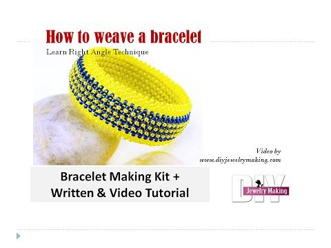 How to make multi layer seed beads bracelet with right angle weave beading technique - YouTube