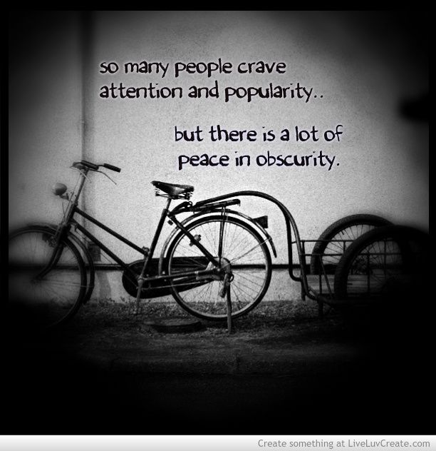 peace in obscurity