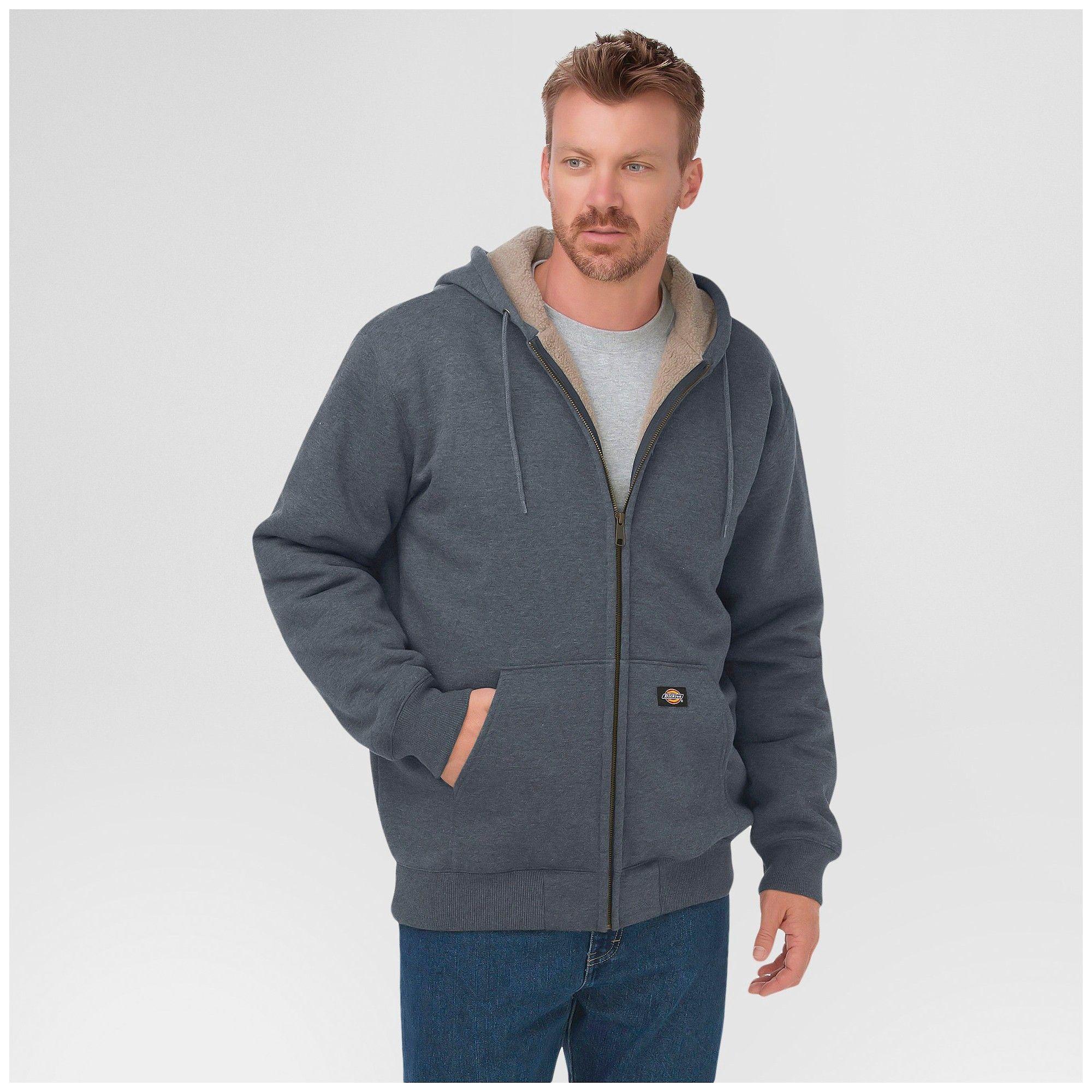 Dickies Men's Sherpa Lined Fleece Hoodie Big & Tall Dark