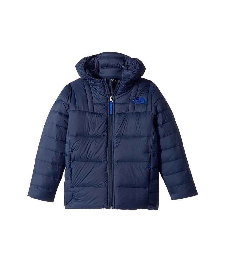 The North Face Navy Blue Boys Size Xl Puffer Full Zip Hooded Jacket 190 902 Kids Outfits Hooded Jacket Winter Jackets [ 1000 x 857 Pixel ]