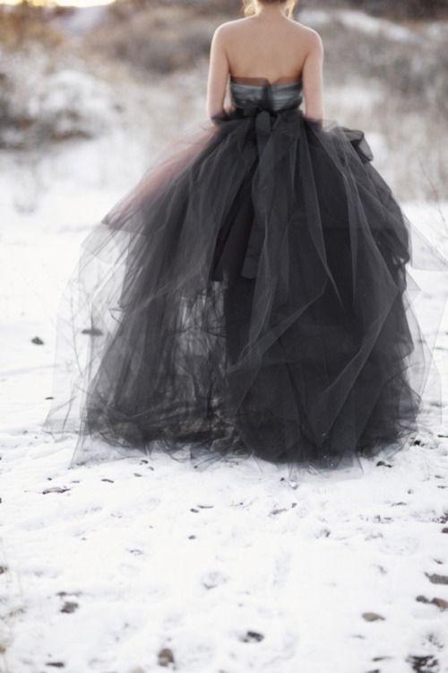 black tulle white snow