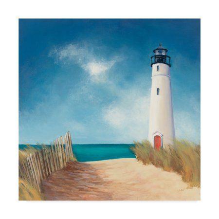 Trademark Fine Art Down The Path Canvas Art By Julia Purinton Walmart Com Lighthouse Painting Lighthouse Art Abstract Canvas Painting