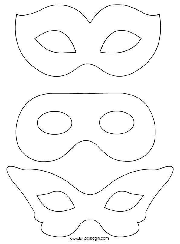 Ausmalbilder Karnevalsmasken