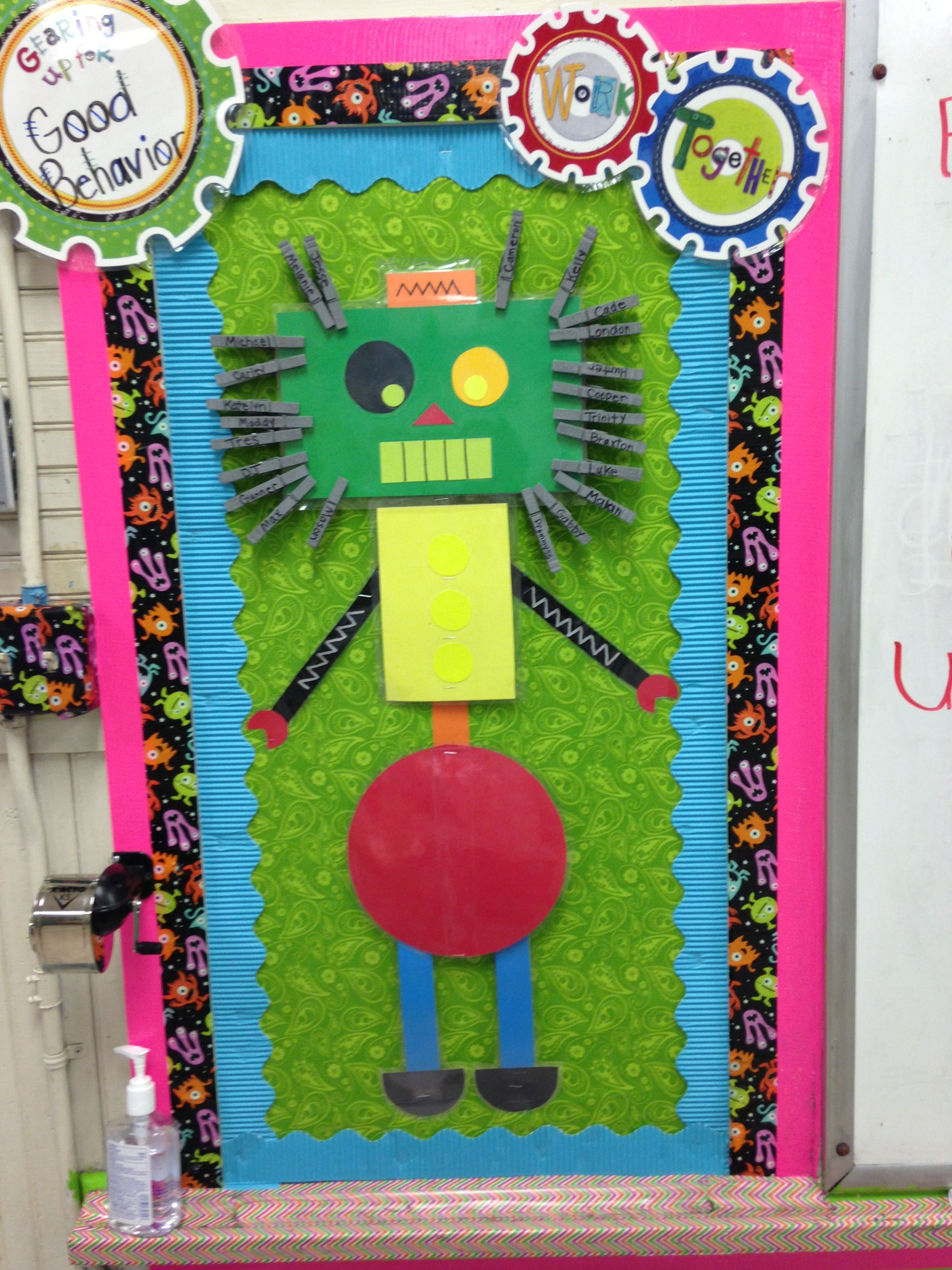 Classroom Decor Charts : Robot behavior clip chart bulletin boards pinterest
