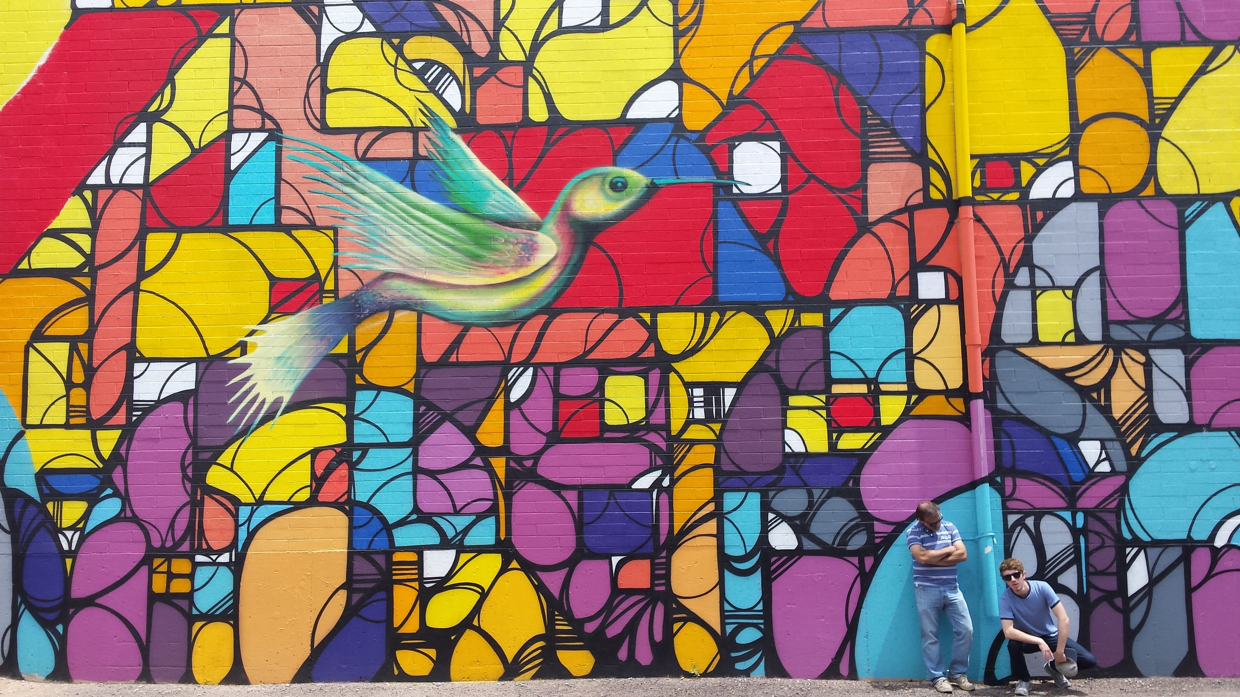 Wall Mural Outside Zinnias At Melrose Place In Phoenix An Eclectic