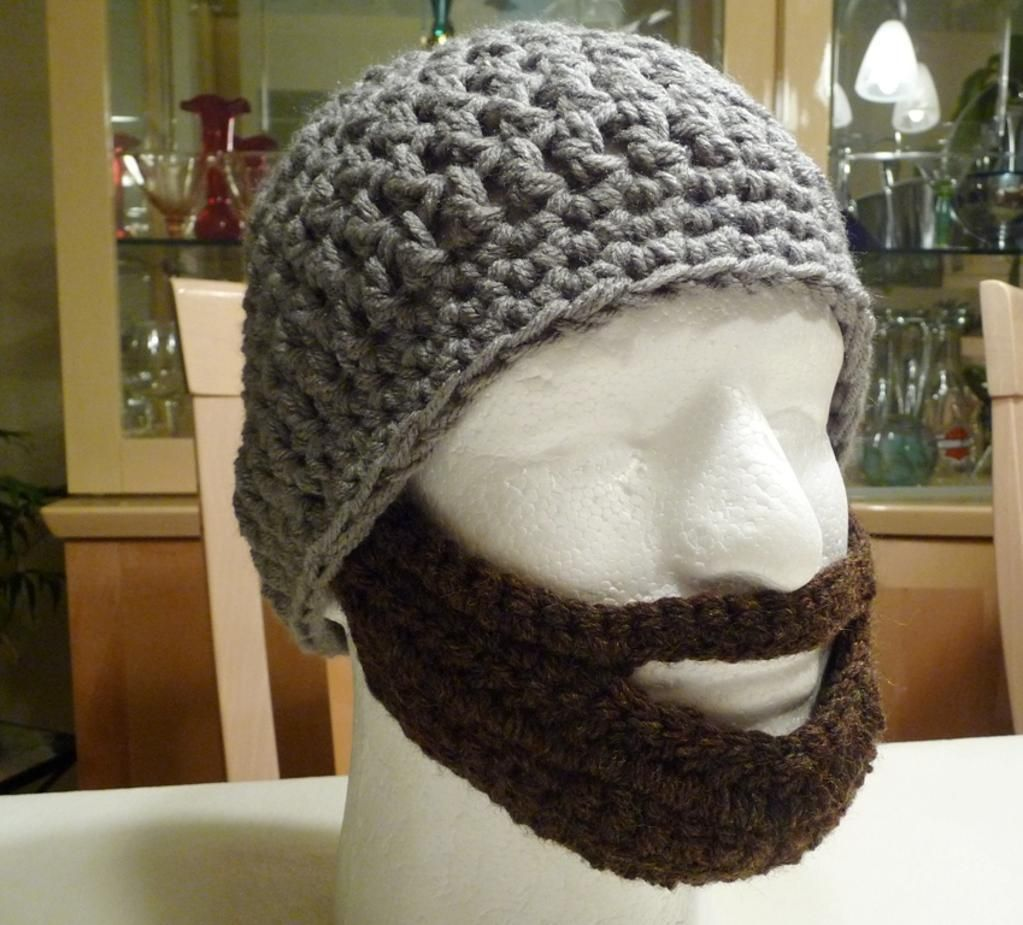 Crochet Hat Patterns | Adult Beard Hat Crochet Pattern. Beard inspiration.