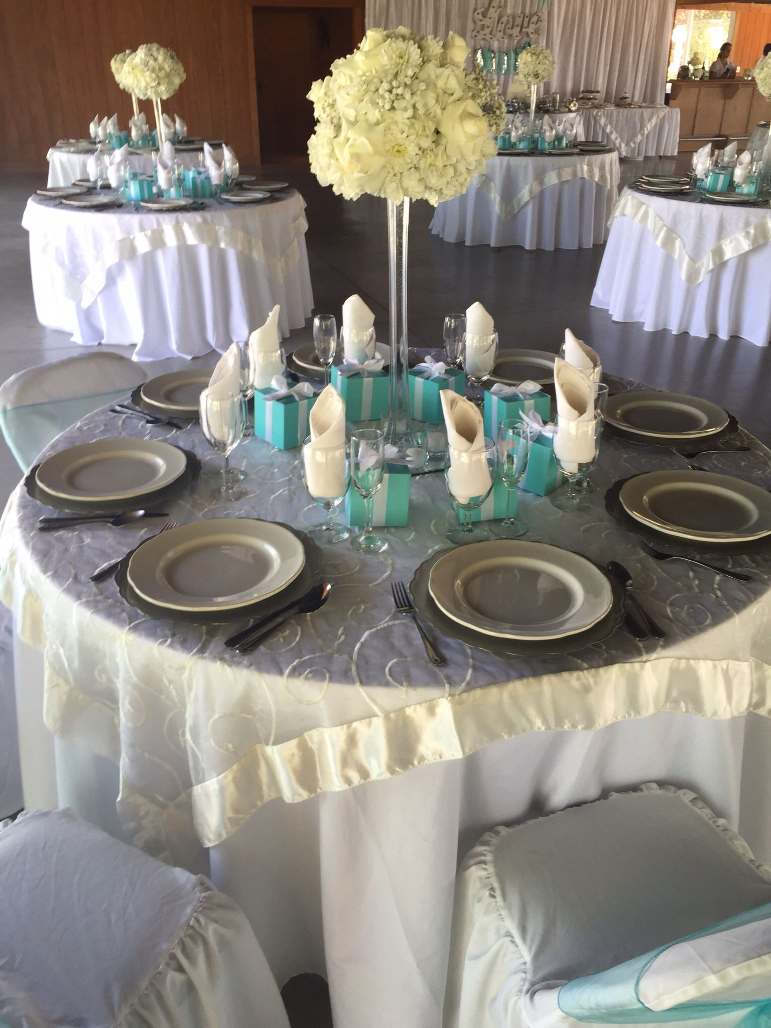 White table cloth, Ivory embroidered organza overlay