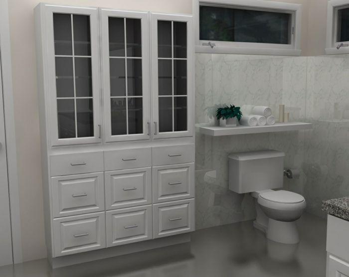 Wandschrank für Badezimmer klein Badezimmer Salle de bain - badezimmer wandschrank
