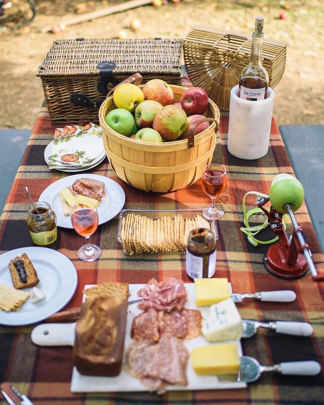 This Is Where We Want To Be. Beautiful Picnic Spread