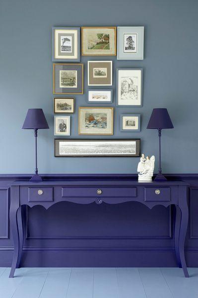 Peinture couleur bleu  idées et conseils Salons, Interiors and - peindre une armoire en bois