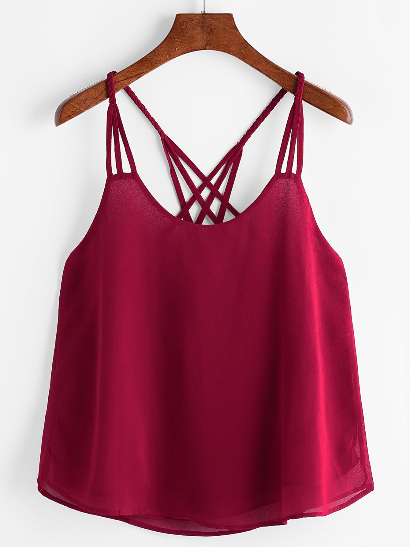 70163446ab78a Shop Lattice Back Cami Top online. SheIn offers Lattice Back Cami Top    more to fit your fashionable needs.