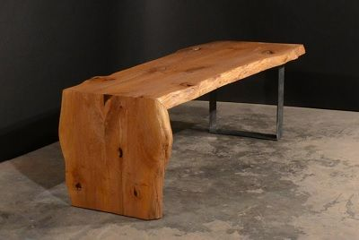 Waterfall Edge Bench Table Furniture Rustic Furniture Rustic Table