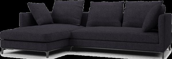 Crescent Contemporary Narrow Corner Sofa