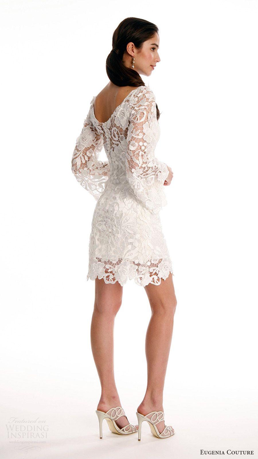 Eugenia Couture Spring 2017 Wedding Dresses Joy Bridal Collection Wedding Inspirasi Short Wedding Dress Short Wedding Dress Vintage Wedding Dresses [ 1600 x 900 Pixel ]