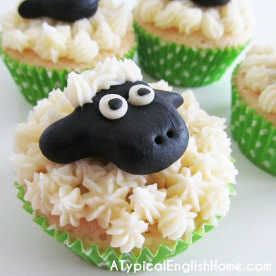 A Typical English Home: Sheep Cupcake Tutorial