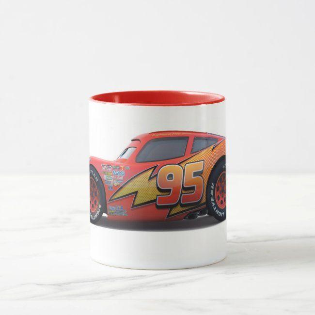 Cars' Lightning McQueen Profile Disney Mug | Zazzle.com