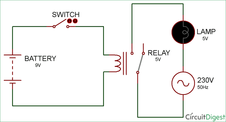 4 pin relay switch wiring diagram sony car stereo speaker basic schematics data diagrams simple circuit electronic rh pinterest com 5