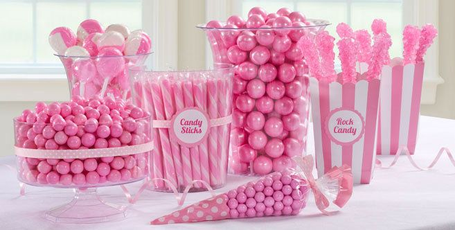 Light Pink Candy Buffet Pink Candy Table Ideas Party City Pink Candy Table Pink Candy Buffet Pink Candy