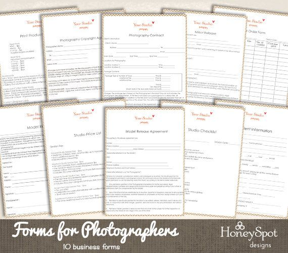 10 photography forms templates instant by honeyspotdesigns on etsy 10 photography forms templates instant by honeyspotdesigns on etsy accmission Gallery