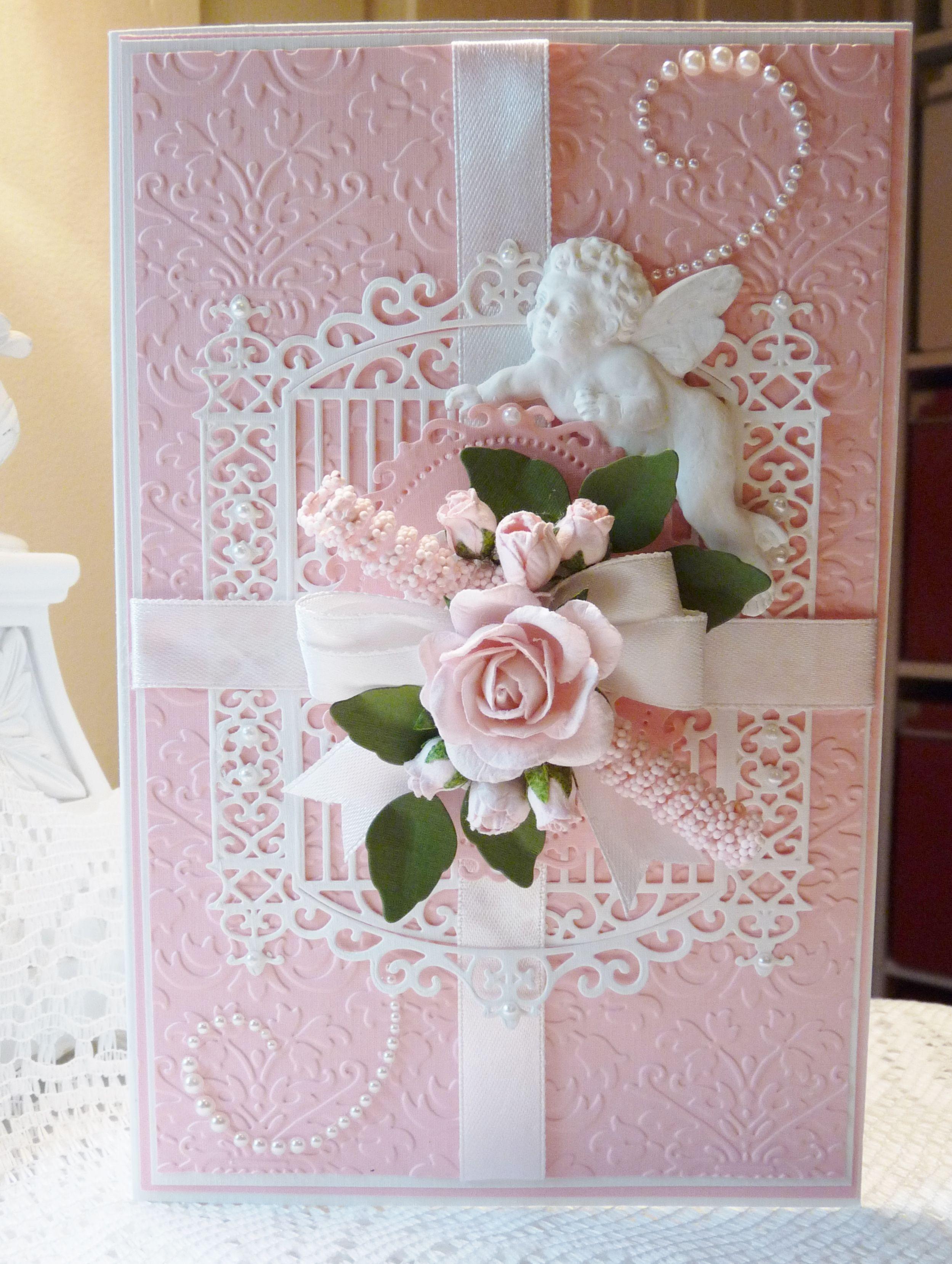 Card birthday card embossed cards cards handmade