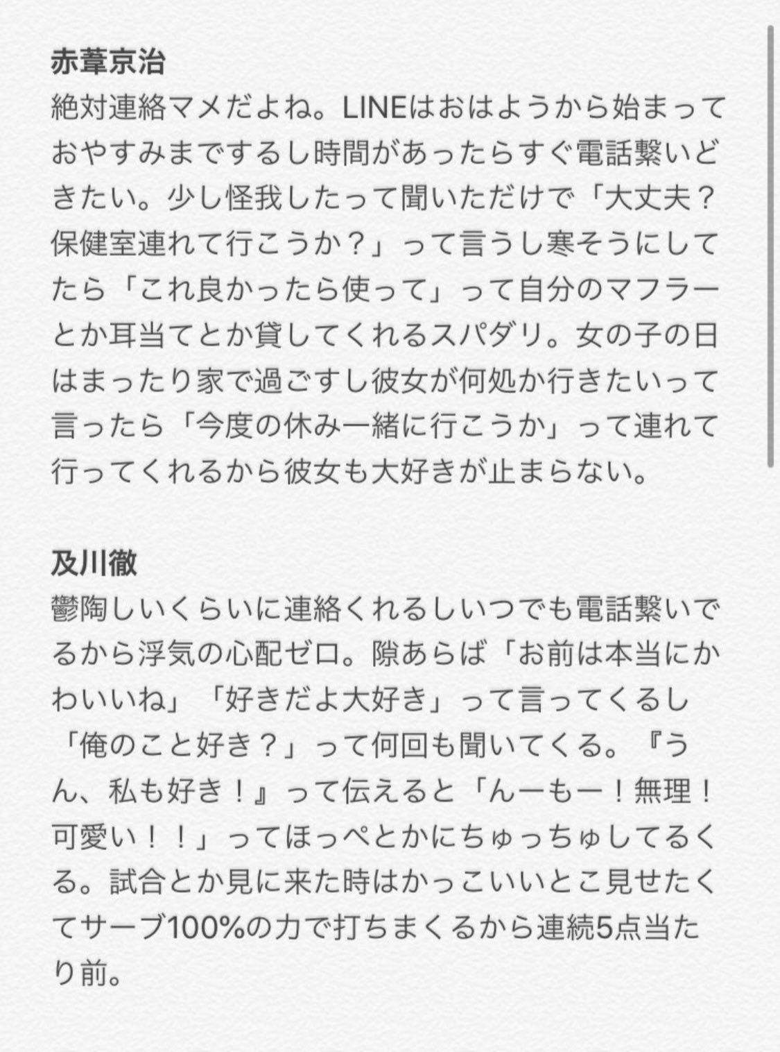 ハイキュー 夢 小説 18